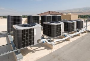 rooftop units on top of commercial space