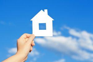 house-cutout-against-blue-sky